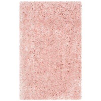 Dax Shag Pink Area Rug Rug Size: 5 x 7