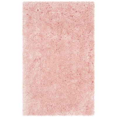 Dax Shag Pink Area Rug Rug Size: 76 x 96