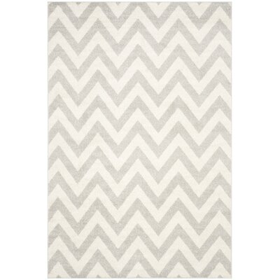 Currey Light Grey/Beige Area Rug Rug Size: Rectangle 6 x 9