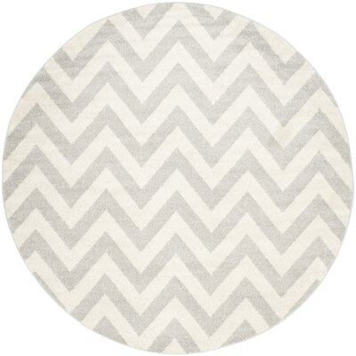 Currey Light Grey/Beige Area Rug Rug Size: Round 9