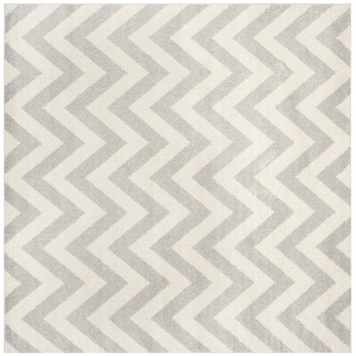 Currey Light Grey/Beige Area Rug Rug Size: Square 5