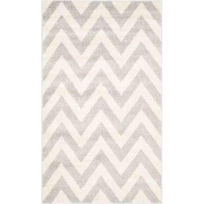 Currey Light Grey/Beige Area Rug Rug Size: Rectangle 4 x 6