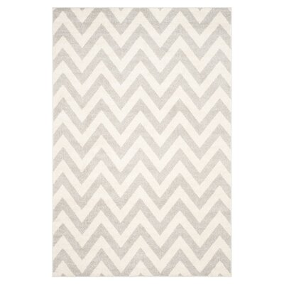 Currey Light Grey/Beige Area Rug Rug Size: Rectangle 9 x 12