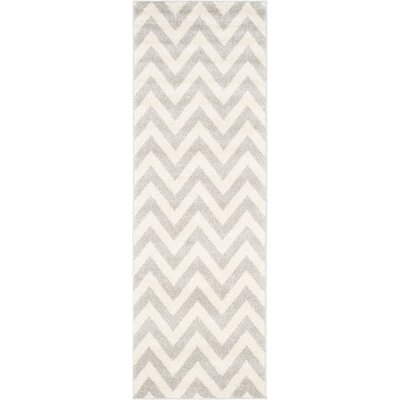 Currey Light Grey/Beige Area Rug Rug Size: Runner 23 x 11