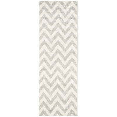 Currey Light Grey/Beige Area Rug Rug Size: Runner 23 x 7