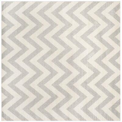 Currey Light Grey/Beige Area Rug Rug Size: Square 5