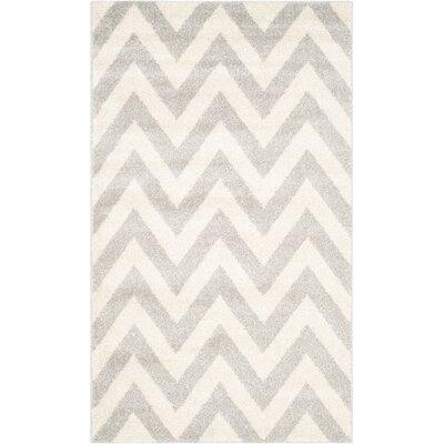 Currey Light Grey/Beige Area Rug Rug Size: 26 x 4