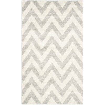 Currey Light Grey/Beige Area Rug Rug Size: Rectangle 3 x 5