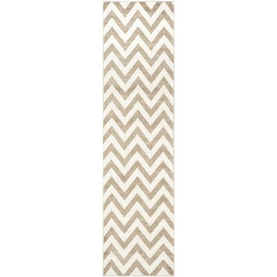 Currey Wheat/Beige Area Rug Rug Size: Runner 23 x 7