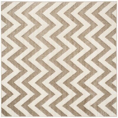 Currey Wheat/Beige Area Rug Rug Size: Square 7