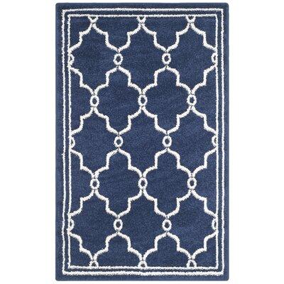 Maritza Navy/Beige Indoor/Outdoor Area Rug Rug Size: Rectangle 26 x 4