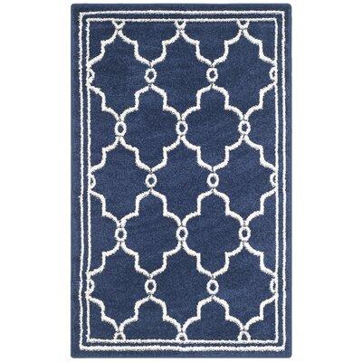 Maritza Navy/Beige Indoor/Outdoor Area Rug Rug Size: 3 x 5