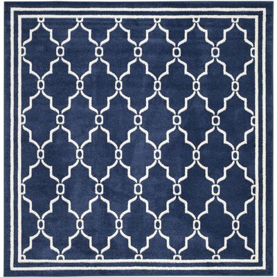 Currey Navy/Beige Indoor/Outdoor Area Rug Rug Size: Square 7