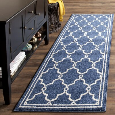 Currey Navy/Beige Indoor/Outdoor Area Rug Rug Size: Runner 23 x 7