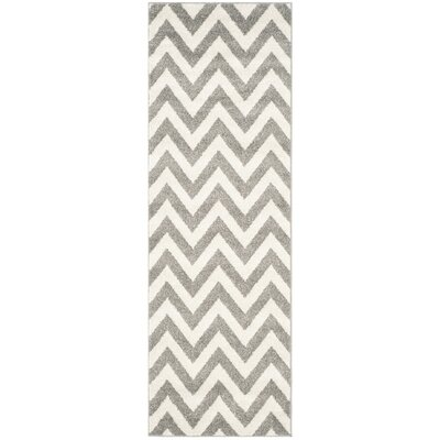 Currey Dark Gray/Beige Indoor/Outdoor Area Rug Rug Size: Runner 23 x 7