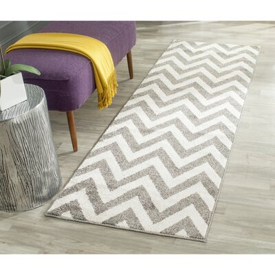 Currey Dark Gray/Beige Indoor/Outdoor Area Rug Rug Size: Runner 23 x 9