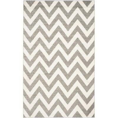 Currey Dark Gray/Beige Indoor/Outdoor Area Rug Rug Size: 5 x 8