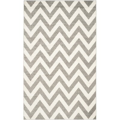 Currey Dark Gray/Beige Indoor/Outdoor Area Rug Rug Size: 6 x 9