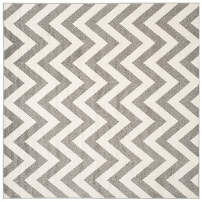Currey Dark Gray/Beige Indoor/Outdoor Area Rug Rug Size: Square 7