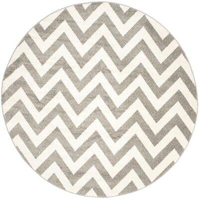Currey Dark Gray/Beige Indoor/Outdoor Area Rug Rug Size: Round 9