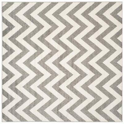 Currey Dark Gray/Beige Indoor/Outdoor Area Rug Rug Size: Square 9