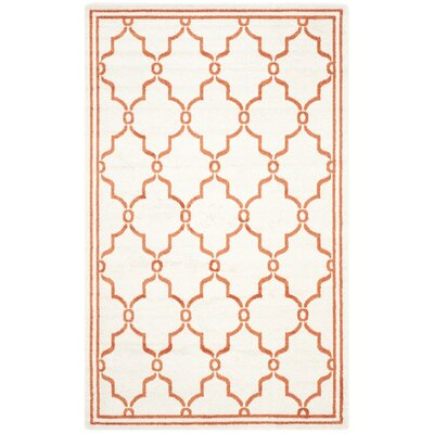 Maritza Beige/Orange Indoor/Outdoor Area Rug Rug Size: Rectangle 5' x 8'
