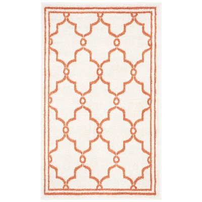 Maritza Beige/Orange Indoor/Outdoor Area Rug Rug Size: Rectangle 4 x 6