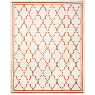 Maritza Beige/Orange Indoor/Outdoor Area Rug Rug Size: Rectangle 8' x 10'