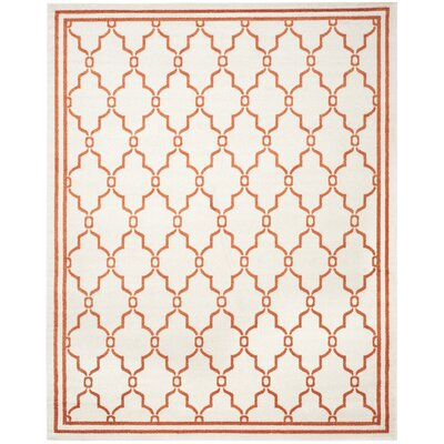 Maritza Beige/Orange Indoor/Outdoor Area Rug Rug Size: 9 x 12