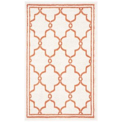 Maritza Beige/Orange Indoor/Outdoor Area Rug Rug Size: 3 x 5