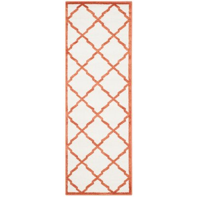 Currey Beige/Orange Indoor/Outdoor Area Rug Rug Size: Runner 23 x 9