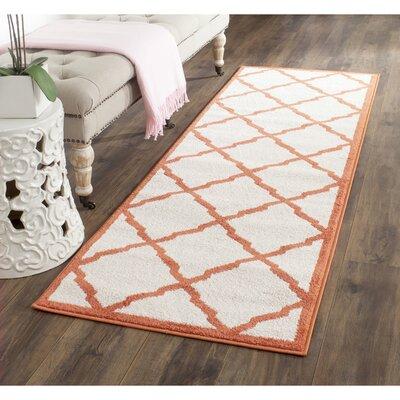 Currey Beige/Orange Indoor/Outdoor Area Rug Rug Size: Runner 23 x 11
