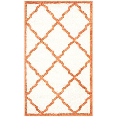 Currey Beige/Orange Indoor/Outdoor Area Rug Rug Size: 4 x 6