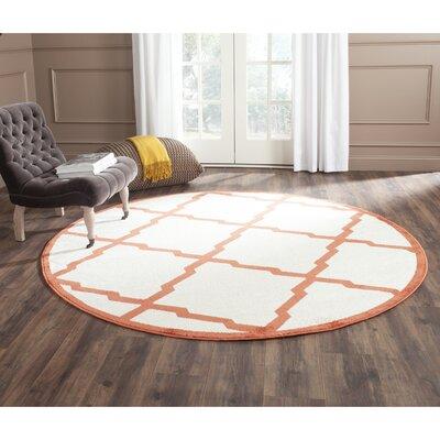 Currey Beige/Orange Indoor/Outdoor Area Rug Rug Size: Round 7