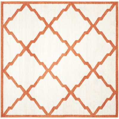 Currey Beige/Orange Indoor/Outdoor Area Rug Rug Size: Square 7