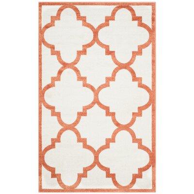 Maritza Geometric Beige/Orange Indoor/Outdoor Area Rug Rug Size: 4 x 6