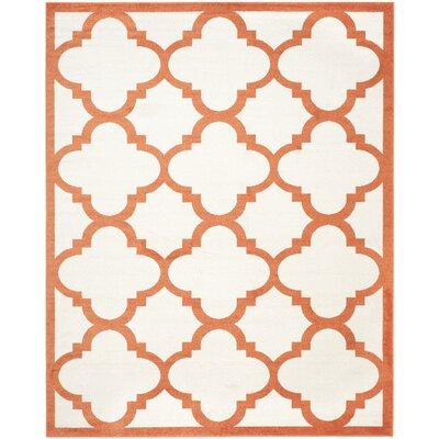 Maritza Geometric Beige/Orange Indoor/Outdoor Area Rug Rug Size: 8 x 10