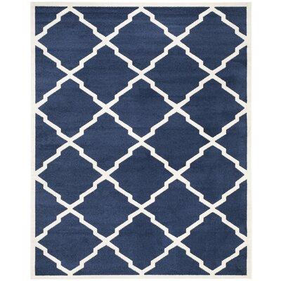 Maritza Navy/Beige Indoor/Outdoor Woven Area Rug Rug Size: 9 x 12
