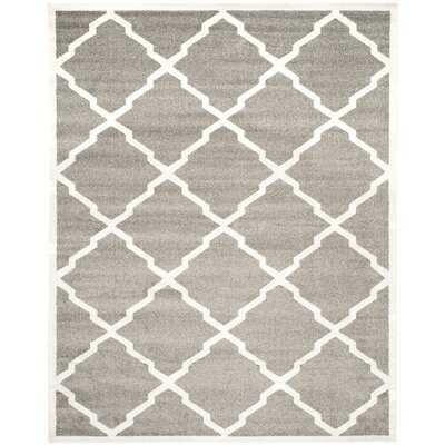 Maritza Dark Gray/Beige Indoor/Outdoor Woven Area Rug Rug Size: Rectangle 8 x 10