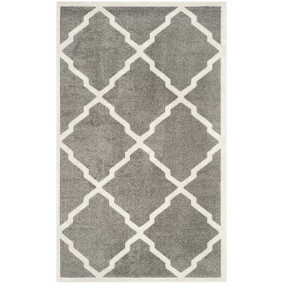 Maritza Dark Gray/Beige Indoor/Outdoor Woven Area Rug Rug Size: Runner 23 x 15