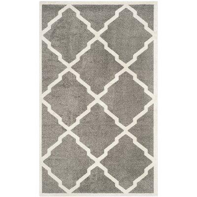 Maritza Dark Gray/Beige Indoor/Outdoor Woven Area Rug Rug Size: 4 x 6