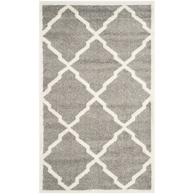 Maritza Dark Gray/Beige Indoor/Outdoor Woven Area Rug Rug Size: 5 x 8