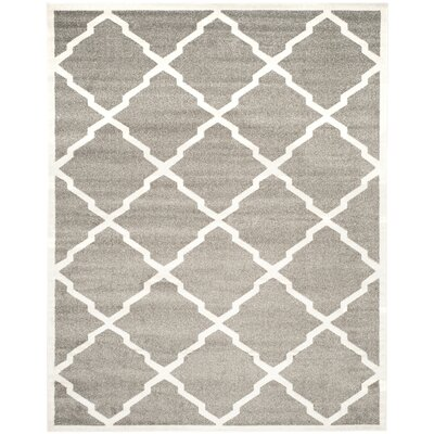 Maritza Dark Gray/Beige Indoor/Outdoor Woven Area Rug Rug Size: 9 x 12