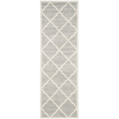 Maritza Light Gray/Beige Indoor/Outdoor Area Rug Rug Size: Runner 23 x 7