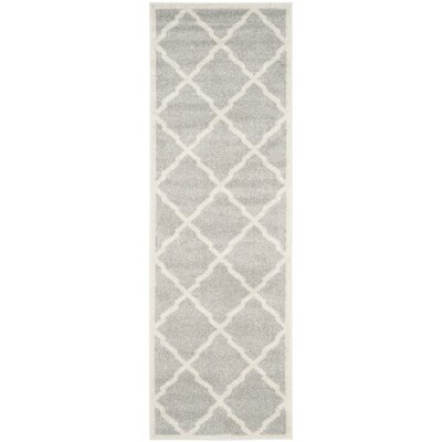Maritza Light Gray/Beige Indoor/Outdoor Area Rug Rug Size: Runner 23 x 9