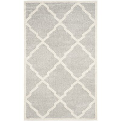 Maritza Light Gray/Beige Indoor/Outdoor Area Rug Rug Size: 4 x 6