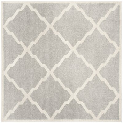 Maritza Light Gray/Beige Indoor/Outdoor Area Rug Rug Size: Square 7
