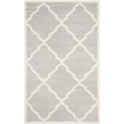 Maritza Light Gray/Beige Indoor/Outdoor Area Rug Rug Size: 9 x 12