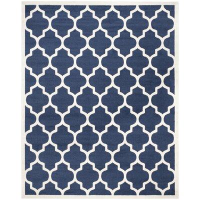 Maritza Geometric Navy/Beige Indoor/Outdoor Area Rug Rug Size: Rectangle 8 x 10