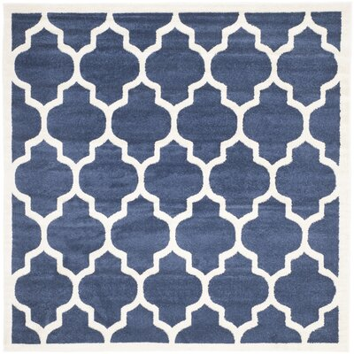 Maritza Geometric Navy/Beige Indoor/Outdoor Area Rug Rug Size: Square 7